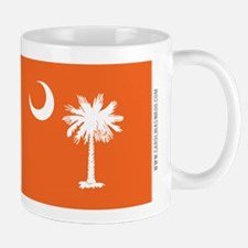 SC Palmetto Moon State Flag Orange Mug