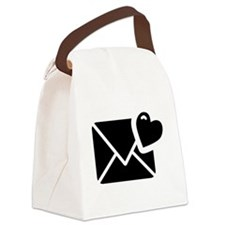 Love Letter Icon Canvas Lunch Bag