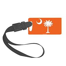 SC Palmetto Moon State Flag Orange Luggage Tag