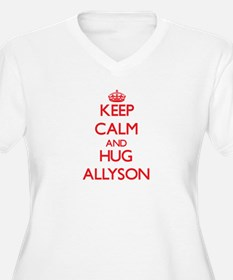 Keep Calm and Hug Allyson Plus Size T-Shirt