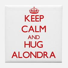 Keep Calm and Hug Alondra Tile Coaster