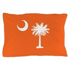 SC Palmetto Moon State Flag Orange Pillow Case