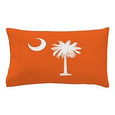 SC Palmetto Moon State Flag Orange Pillow Case
