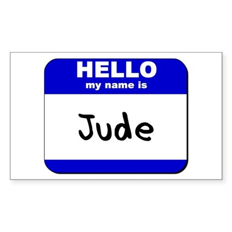 hello my name is jude Rectangle Sticker