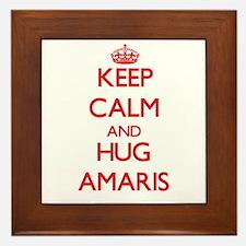 Keep Calm and Hug Amaris Framed Tile