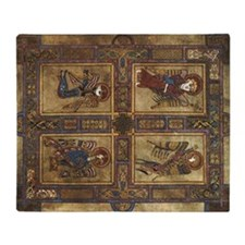 Book Of Kells Throw Blanket