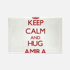 Keep Calm and Hug Amira Magnets