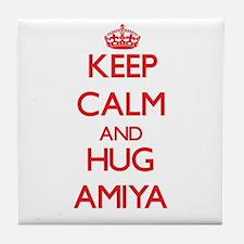 Keep Calm and Hug Amiya Tile Coaster
