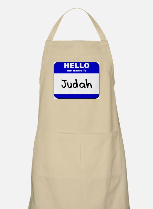 hello my name is judah  BBQ Apron