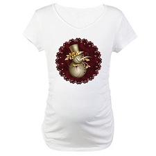 Cute Golden Snowman Maternity T-Shirt