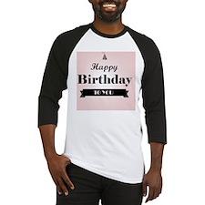 Modern and Whimsical Pink Birthday Baseball Jersey