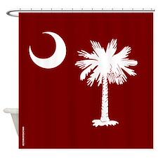 SC Palmetto Moon State Flag Garnet Shower Curtain