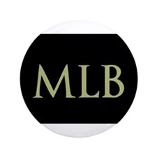 """Monogram in Large Letters 3.5"""" Button"""