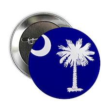 "SC Palmetto Moon State Flag Blue 2.25"" Button"