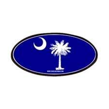 SC Palmetto Moon State Flag Blue Patches