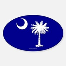 SC Palmetto Moon State Flag Blue Decal