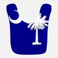SC Palmetto Moon State Flag Blue Bib