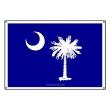 SC Palmetto Moon State Flag Blue Banner