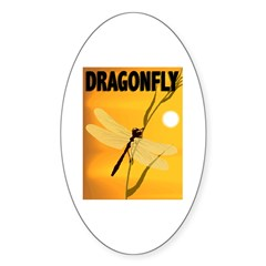 Graphic Dragonfly Oval Decal
