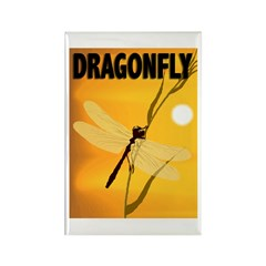 Graphic Dragonfly Rectangle Magnet
