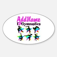 AWESOME GYMNAST Sticker (Oval)