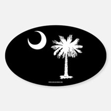 SC Palmetto Moon State Flag Black Decal