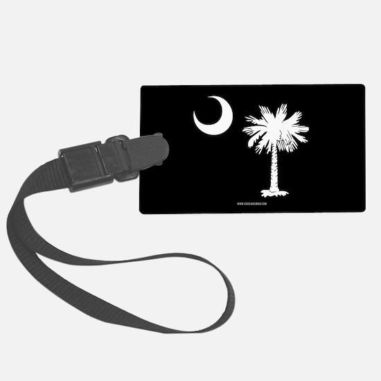 SC Palmetto Moon State Flag Black Luggage Tag