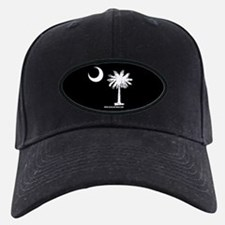 SC Palmetto Moon State Flag Black Baseball Hat