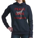 Peace Love Taekwondo Women's Hooded Sweatshirt
