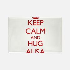Keep Calm and Hug Alisa Magnets