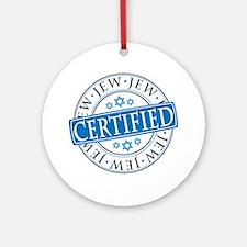 Certified Jew Ornament (Round)
