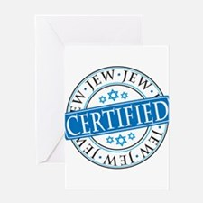 Certified Jew Greeting Cards