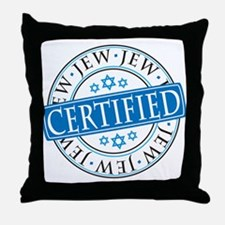 Certified Jew Throw Pillow