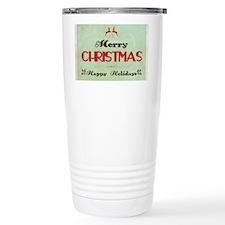 Retro Green Christmas Travel Mug