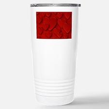 Red Three Dimensional P Stainless Steel Travel Mug