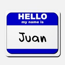 hello my name is juan  Mousepad