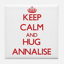Keep Calm and Hug Annalise Tile Coaster