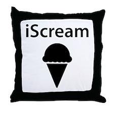 iScream Ice Cream Throw Pillow