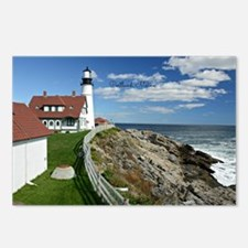 Lighthouse, Portland, Mai Postcards (Package of 8)