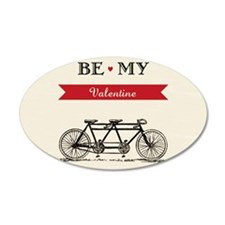 Tandem Bicycle - Valentine's Wall Decal