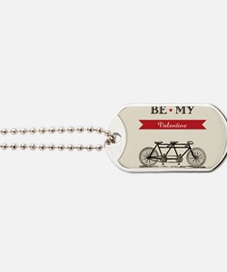 Tandem Bicycle - Valentine's Day  Dog Tags