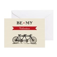 Tandem Bicycle - Valentine's Day  Greeting Card