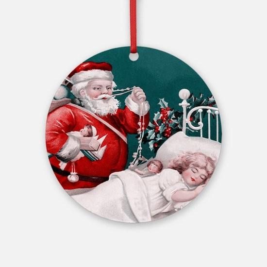 vintage christmas Ornament (Round)
