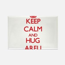Keep Calm and Hug Areli Magnets