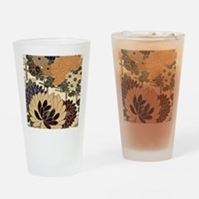 Vintage Floral Design in Neutral Co Drinking Glass
