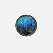 Underwater Love Porthole Mini Button