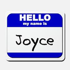 hello my name is joyce  Mousepad