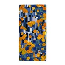 Klimtified! - Gold/Blue Beach Towel