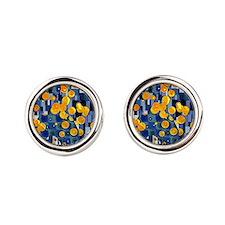 Klimtified! - Gold/Blue Cufflinks