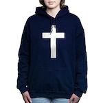 White Cross Hooded Sweatshirt